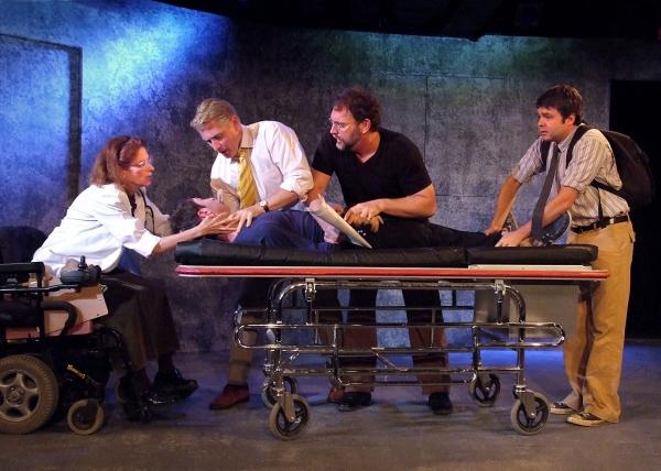 Lisa Pelikan, Dan Shaked (on gurney), Stephen O''Mahoney, Tim Cummings and Fred Koehl Photo