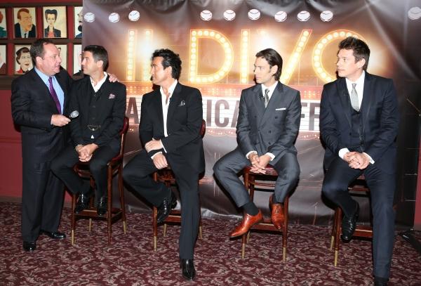 Jimmy Nederlander introduces Sebastien Izambard, Carlos Marin, Urs Buhler and David Miller from IL DIVO