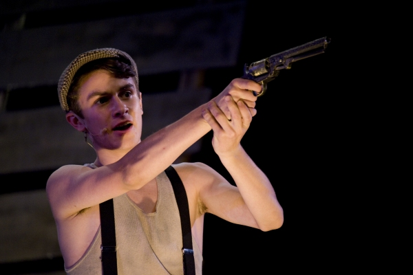 Jacob Roberts-Miller as Clyde Barrow. Photo by John Gusky.