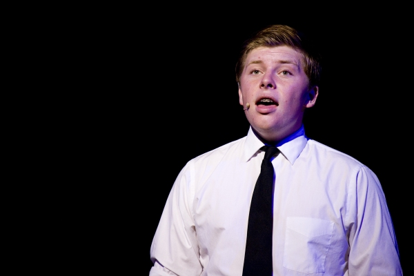 Jackson Holtkamp as The Preacher. Photo by John Gusky.