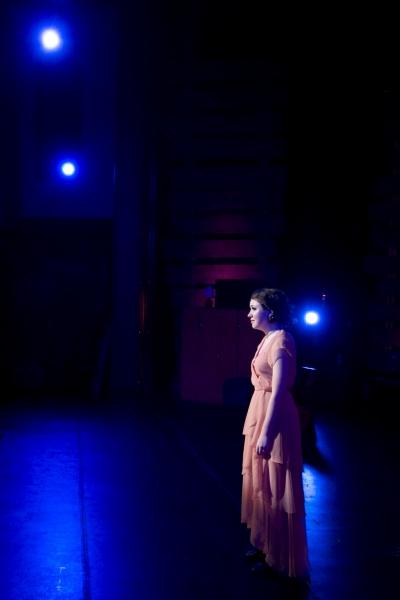 Hannah McEvilly as Bonnie Parker. Photo by John Gusky.