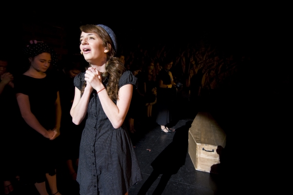 Sierra Barnett as Young Bonnie (Center) and ensemble. Photo by John Gusky.