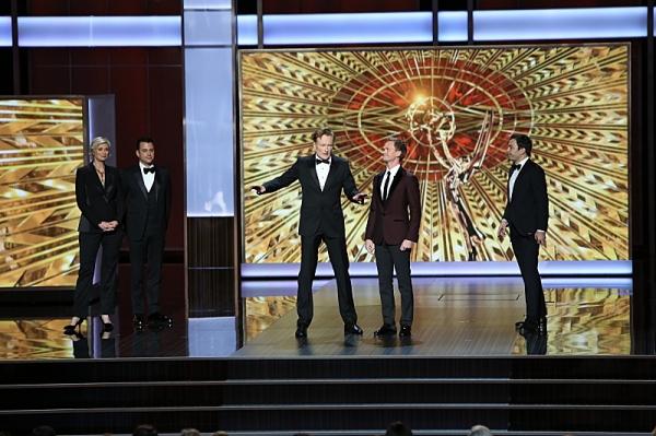 Jane Lynch, Jimmy Kimmel, Conan O''Brien, Neil Patrick Harris, and Jimmy Fallon  Photo