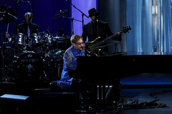 Elton John performs