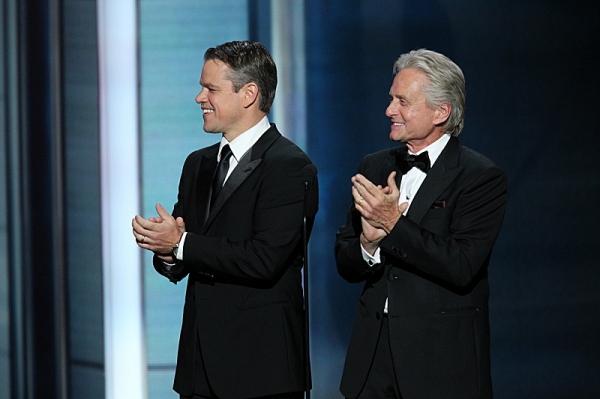 Matt Damon and Michael Douglas