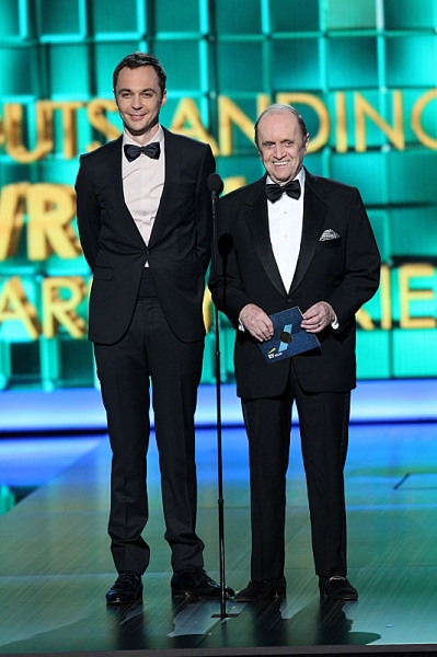 Jim Parsons and Bob Newhart
