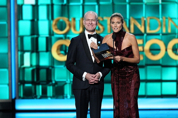 Tim Gunn and Heidi Klum