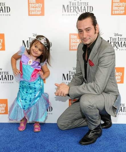Photo Flash: Constantine Maroulis & Daughter Attend LITTLE MERMAID Blu-ray Screening