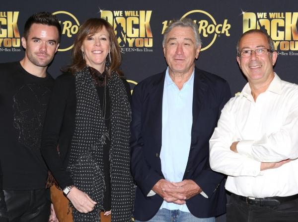Brian Justin Crum, Jane Rosenthal, Robert De Niro with Director Ben Elton