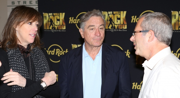 Jane Rosenthal, Robert De Niro with Director Ben Elton