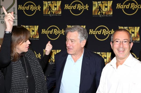 Jane Rosenthal, Robert De Niro with Director Ben Elton