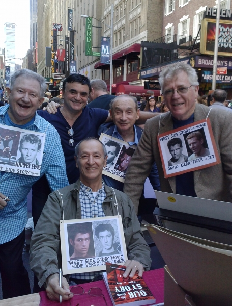 West Side Story's Harvey Evans, Bert Michaels, David Bean and Eddie Verso share Jerome Robbins stories with Fiddler On The Roof's Lawrence Leritz.