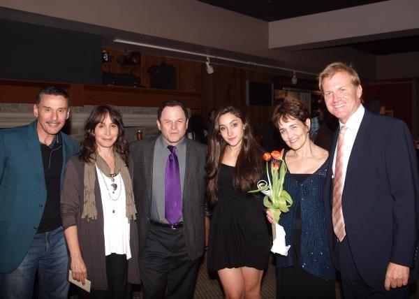 John Mariano, Gina Hecht, Jason Alexander, Cate Caplin, Tom McCoy and friend. Photo