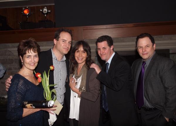 Cate Caplin, Brian Kite, Gina Hecht, Jeff Maynard, and Jason Alexander.