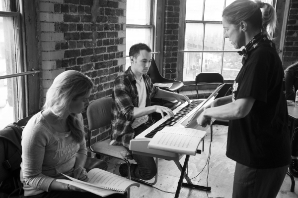 Caroline Sheen, Alex Parker and Janie Dee