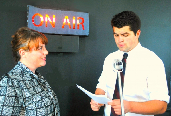 Whitney Smith listens to Kyle Miller as Orson Welles Photo
