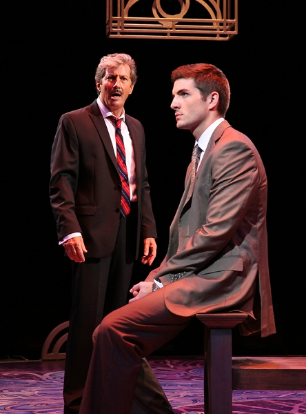 Charles Shaughnessy (Georges) and Zach Trimmer (Jean-Michel)
