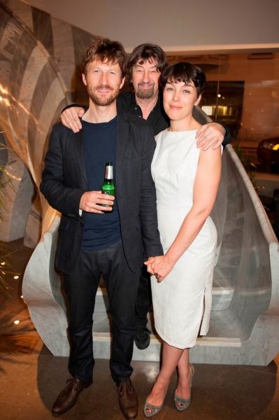 Mark Bazeley (Johan), Trevor Nunn and Olivia Williams (Marianne)
