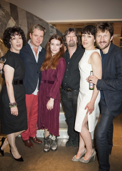 The cast of Scenes from a Marriage with director Trevor Nunn (third from right)