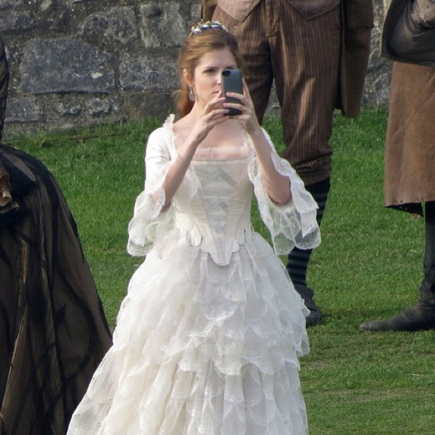 Anna Kendrick, Chris Pine & Company Film INTO THE WOODS Royal Wedding