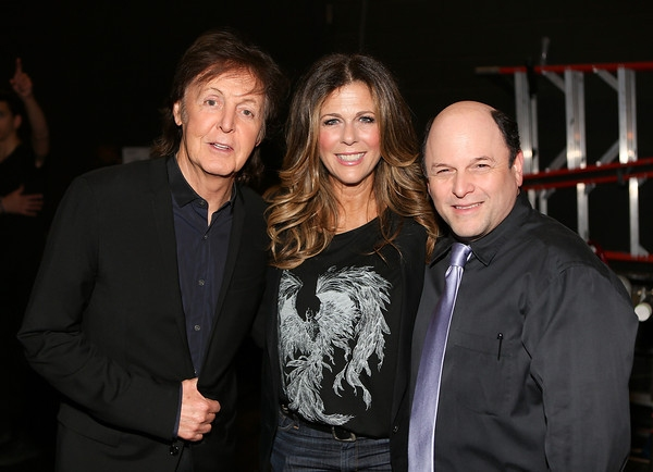From left, recording artist Sir Paul McCartney, actress Rita Wilson and actor Jason Alexander
