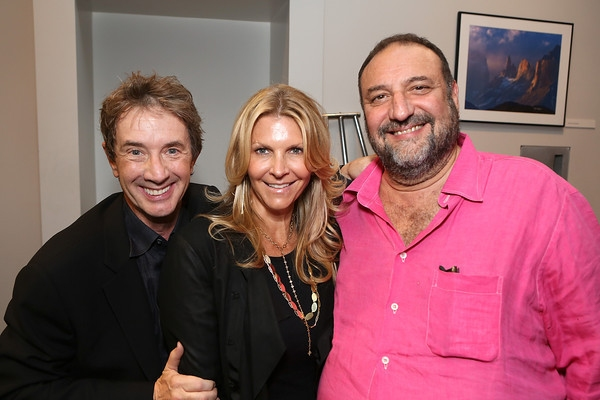 From left, actor Martin Short, Karyn Fields and Joel Silver