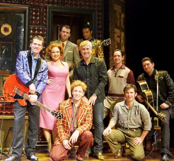 Taylor Hicks with the cast of MILLION DOLLAR QUARTET