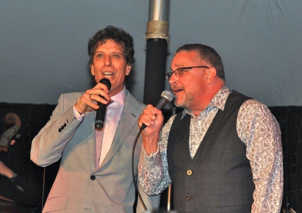 Co-hosts Jonathan Brielle and Michael Bush Photo