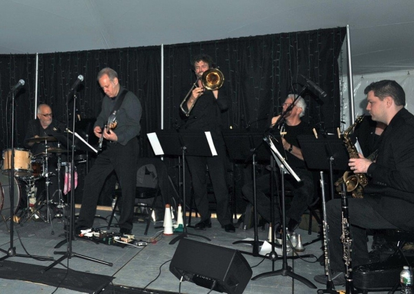 Brielle Band   Paul Pizzutte, drums, Larry Saltzman, guitar, Ryan Keberle, trombone, Jim Hynes, trumpet, Dan Willis, reeds
