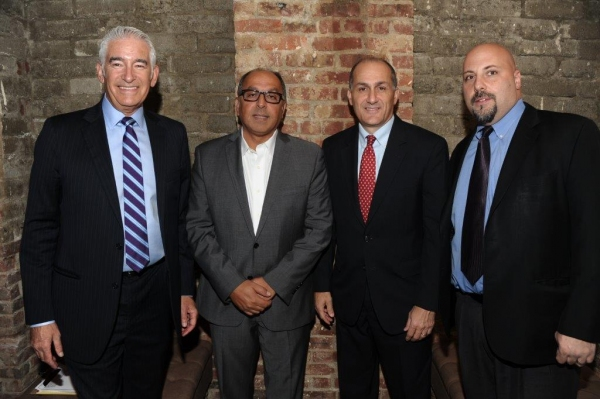 Bruce Michael, Cyrus Hakakian, Mayor Peter Cavallaro, Eric Alexander Photo