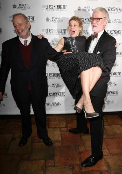 Producer Jeffrey Richards, Celia Keenan-Bolger and John N. Hart Jr.
