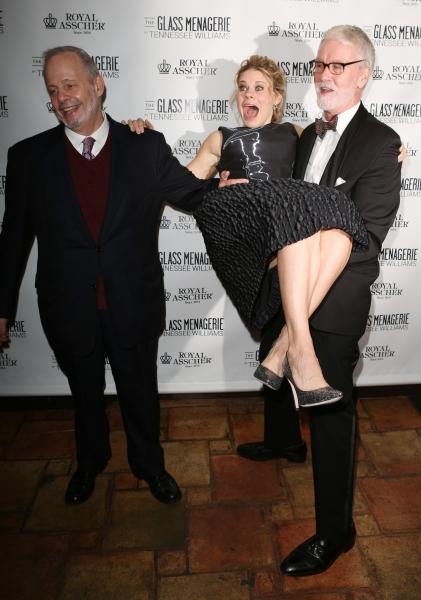 Producer Jeffrey Richards, Celia Keenan-Bolger and John N. Hart Jr.