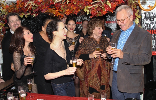Walter Bobbie, Fran Weissler, Bebe Neuwirth and the cast