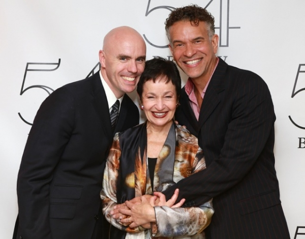 Sean McCourt, Lynn Ahrens and Brian Stokes Mitchell
