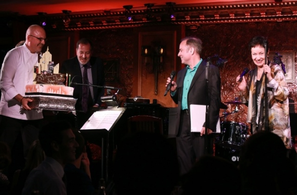 Andre Marrero, musical director Ted Sperling,  Stephen Flaherty and Lynn Ahrens