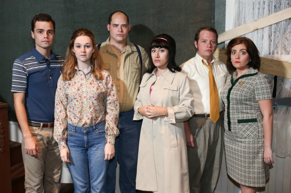 The cast of New Line Theatre''s ''Night of the Living Dead,'' 2013. L-R, Joseph McAnulty, Mary Beth Black, Zachary Allen Farmer, Marcy Wiegert, Mike Dowdy, Sarah Porter.