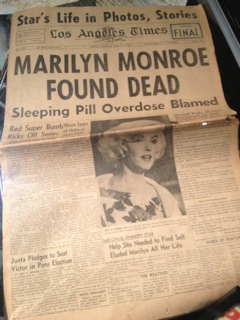 LA Times: Marilyn Monroe Found Dead Photo
