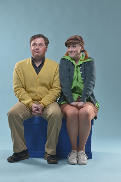 Charlie Brown (Ian Leonard) discusses love with  Peppermint Patty (Ashley Rae Little) Photo