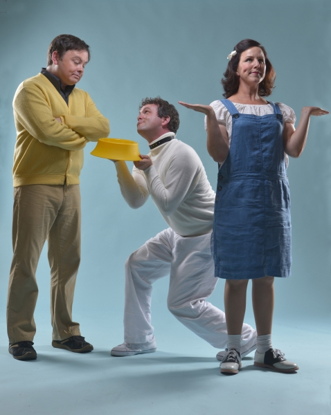Charlie Brown (Ian Leonard), Snoopy (Keith Pinto),  and Lucy (Dyan McBride) are some  Photo