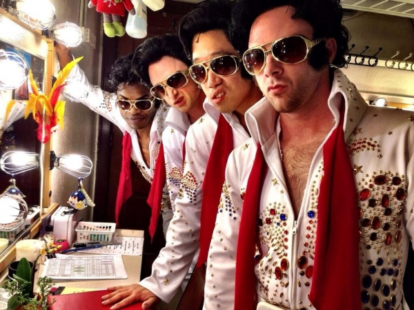 Photo Flash: Saturday Intermission Pics, Sept 28 - The Elvises of HONEYMOON IN VEGAS, JUNGLE BOOK Does BREAKING BAD and More!