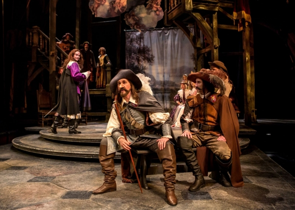 Cyrano (Harry Groener) and La Bret (Sean Fortunato)