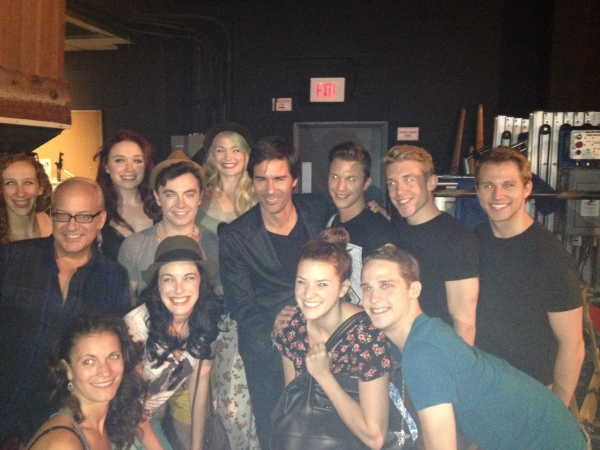 Eric McCormack Poses with the Oz Company