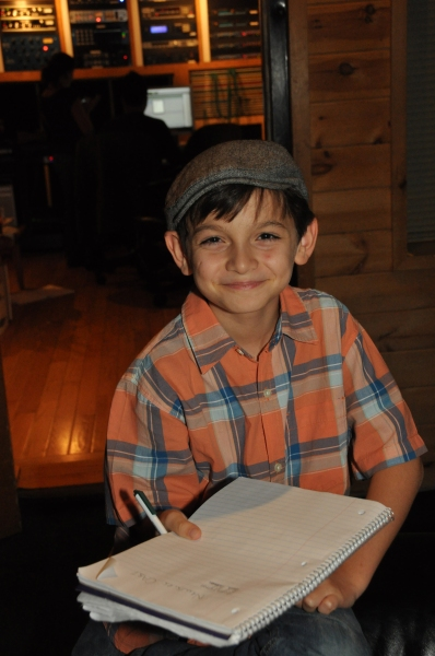 Exclusive Photo Coverage: In the Recording Studio with the Cast of NEWSIES for Carols For A Cure
