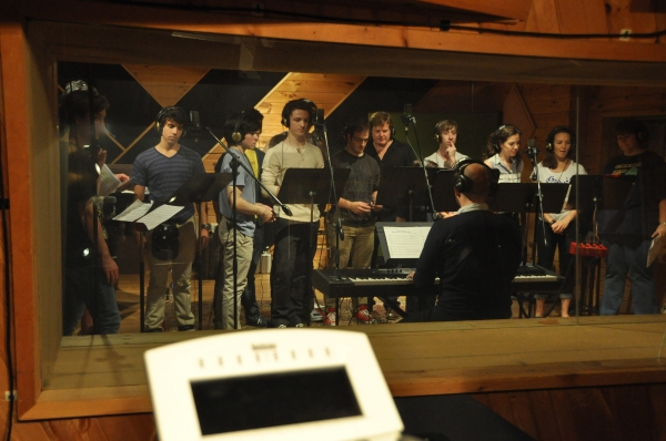 Stenen Maolone (Musical Director) conducting David Guzman, Andy Richardson, Iain Young, Evan Kasprzak, Mark Aldrich, Ryan Breslin, Liana Hunt, Kara Lindsay and Vanessa Brown