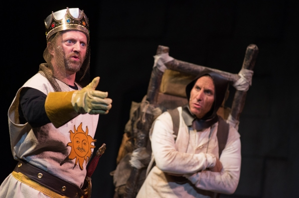 King Arthur (Scott Langdon) and Patsy (David Jack)Sir Galahad (Jay Poff) and Lady of  Photo