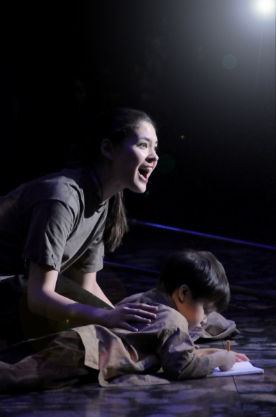Kim (Manna Nichols) with Tam. Photo by Billy Bustamante