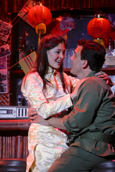Manna Nichols (as Kim) and Charlie Brady (as Chris) in Miss Saigon