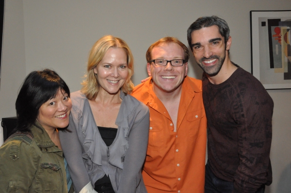 Ann Harada, Rebecca Luker, Richard Rockage (Musical Director) and Peter Nelson