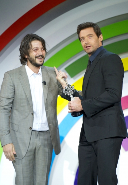 Diego Luna and Hugh Jackman