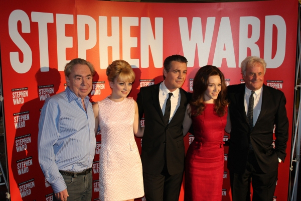 Andrew Lloyd Webber, Charlotte Blackledge (Mandy Rice-Davies), Alexander Hanson (Stephen Ward), Charlotte Spencer (Christine Keeler) and Richard Eyre